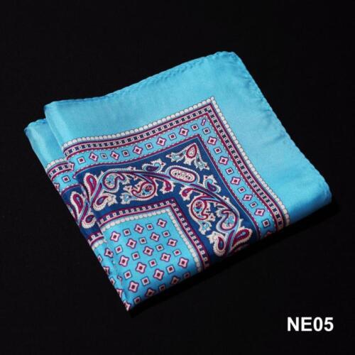 NE Handkerchief 100/% Natural Silk Satin Mens Hanky Wedding Party Pocket Square