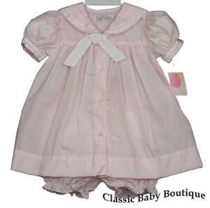 NWT Petit Ami Cream Bishop Smocked Floral Baby Girls 2pc Dress 12 18 24 Months