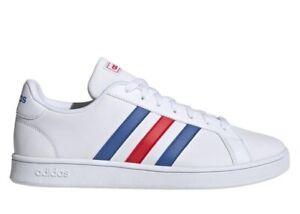 Adidas-GRAND-COURT-BASE-EE7901-Bianco-Scarpe-Uomo-Sneakers-Sportive