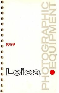 1959 LEICA CAMERA ALL PRODUCTS CATALOG BROCHURE -LEICA M3-M2-M1-Ig-IIIg