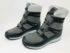 53e028416c67 Women s Salomon Heika CS Waterproof Winter Boot (black quarry alloy ...