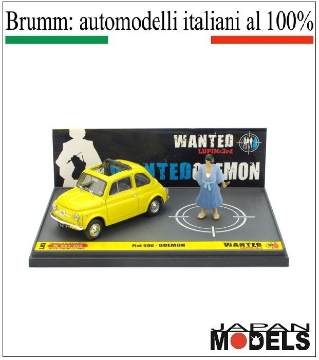 FIAT 500 GOEMON Lupin The 3rd 055 100 Limited L03 Brumm 1 43 New Nuovo New