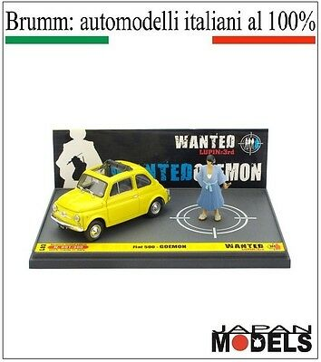 Fiat 500 Goemon Lupin The 3rd 055/100 Limited L03 Brumm 1/43 New Nuovo New Colore Veloce