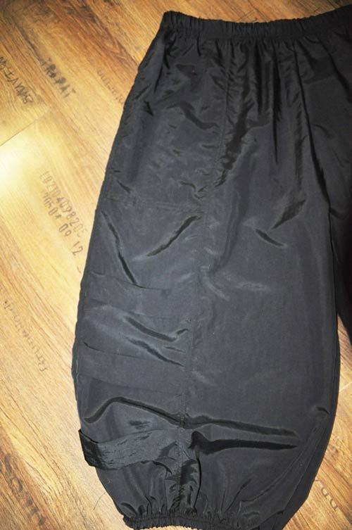 Lagenlook übergrosse  Ballonhose Leiter-Bänder Nylon-Taft black XXL,XXXL,XXXXL