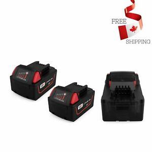 Replacement-M18-Battery-2-Pack-18V-5-0Ah-Milwaukee-18-Volt-XC