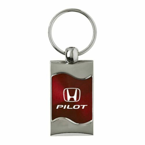 Honda Pilot Key Ring Burgundy Wave Keychain