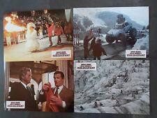 FEUER, EIS & DYNAMIT - 12 Aushangfotos - Willy Bogner - Roger Moore