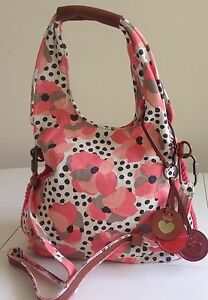 ca23e7a806 NWT Juicy Couture New Gen.Pink Canvas   Leather Summer Saddle Hobo ...