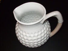 Apple Tree Designs White Ceramic Thumbprint Collectible Water Pitcher