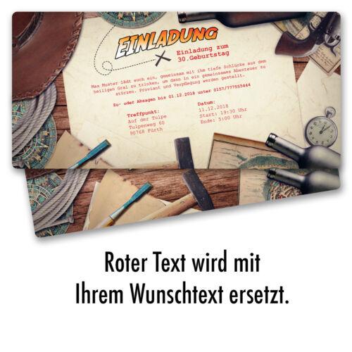 Einladungskarten zum Geburtstag Abenteuer Party Karte Ticket Einladung