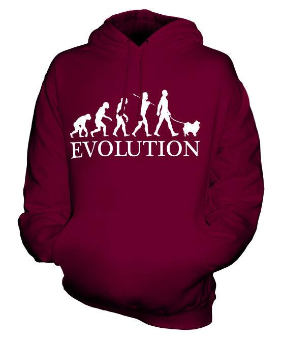 KEESHOND EVOLUTION OF MAN UNISEX HOODIE  Herren Damenschuhe LADIES DOG LOVER GIFT