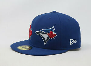 New-Era-59Fifty-Hat-MLB-Mens-Toronto-Blue-Jays-Royal-Blue-Patch-Fitted-5950-Cap