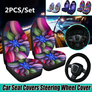 2PC-Universal-Front-Car-Seat-Covers-Auto-Seat-Cushions-Protector-Flower-Printed
