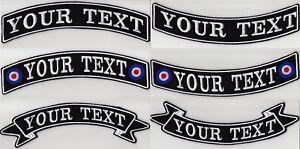 LARGE-CUSTOM-BACK-ROCKER-RIBBON-PATCHES-11-1-2-034-PERSONALISED-BIKER-SCOOTER-CLUB