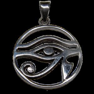 Details about Eye of Horus Pendant 925 silver Egyptian Ra Udjat Sky God  Biker Rock feeanddave