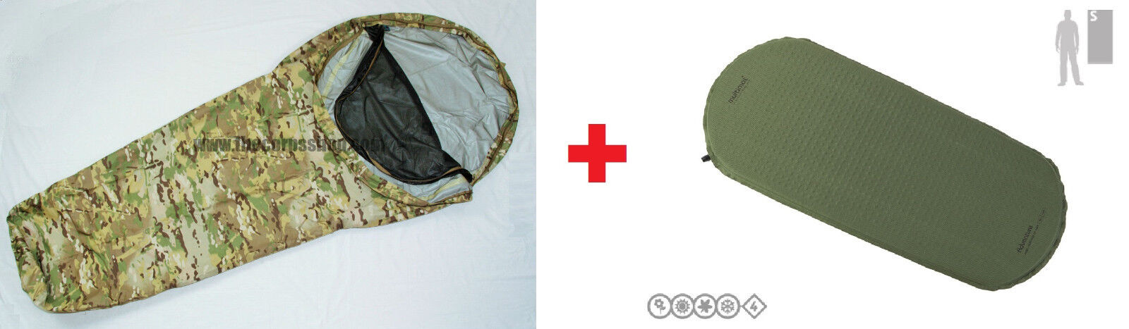 MULTICAM TACTICAL BIVY BAG SHELTER  + MULTIMAT SELF INFLATING SLEEPING MAT COMBO  authentic quality