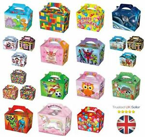 10-Party-Food-Boxes-Loot-Lunch-Cardboard-Gift-Children-039-s-Kids-Happy-Birthday-UK