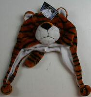 Rugged Wear Plush Critter Hat Tiger Child Kid Stocking Cap Beanie Toy Christmas