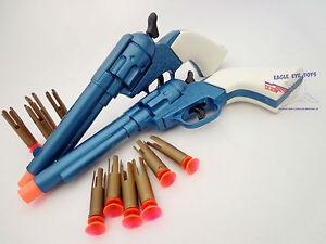 Dual 2x Gun Wild West Western Cowboy Peacemaker Dart Revolver Toy Guns SAFE