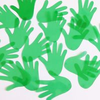 Sequin Glove Vinyl Go Go Trans Green. Made In Usa
