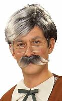 Forum Novelties Gepetto Grey Wig and Moustache - 00799760915777 Toys