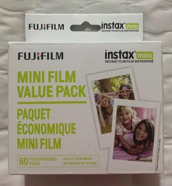 Fujifilm Instax Mini White Instant Film, 60 Exposures Pack 650004833 / 600016111