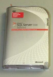 Microsoft SQL Server 2008 Standard-  Deutsch - inkl. 10 Cals - SKU : 228-08397
