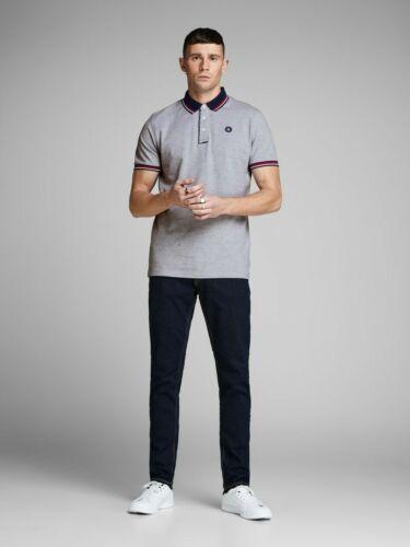 Jack /& Jones T Shirts Mens Short Sleeve Causal Polo Shirts Summer Tee Tops
