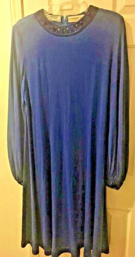 Vintage AVERARDO BESSI Royal Blue Beaded Sequined