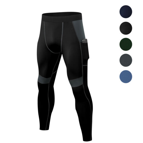 Men/'s Compression Pants Workout Gym Yoga Running Tights Sportwear Activewear