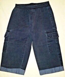 Boys-Navy-Cargo-Pants-Elastic-Waist-Size-12-Months