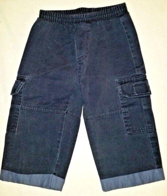 Boys Navy Cargo Pants Elastic Waist Size 12 Months