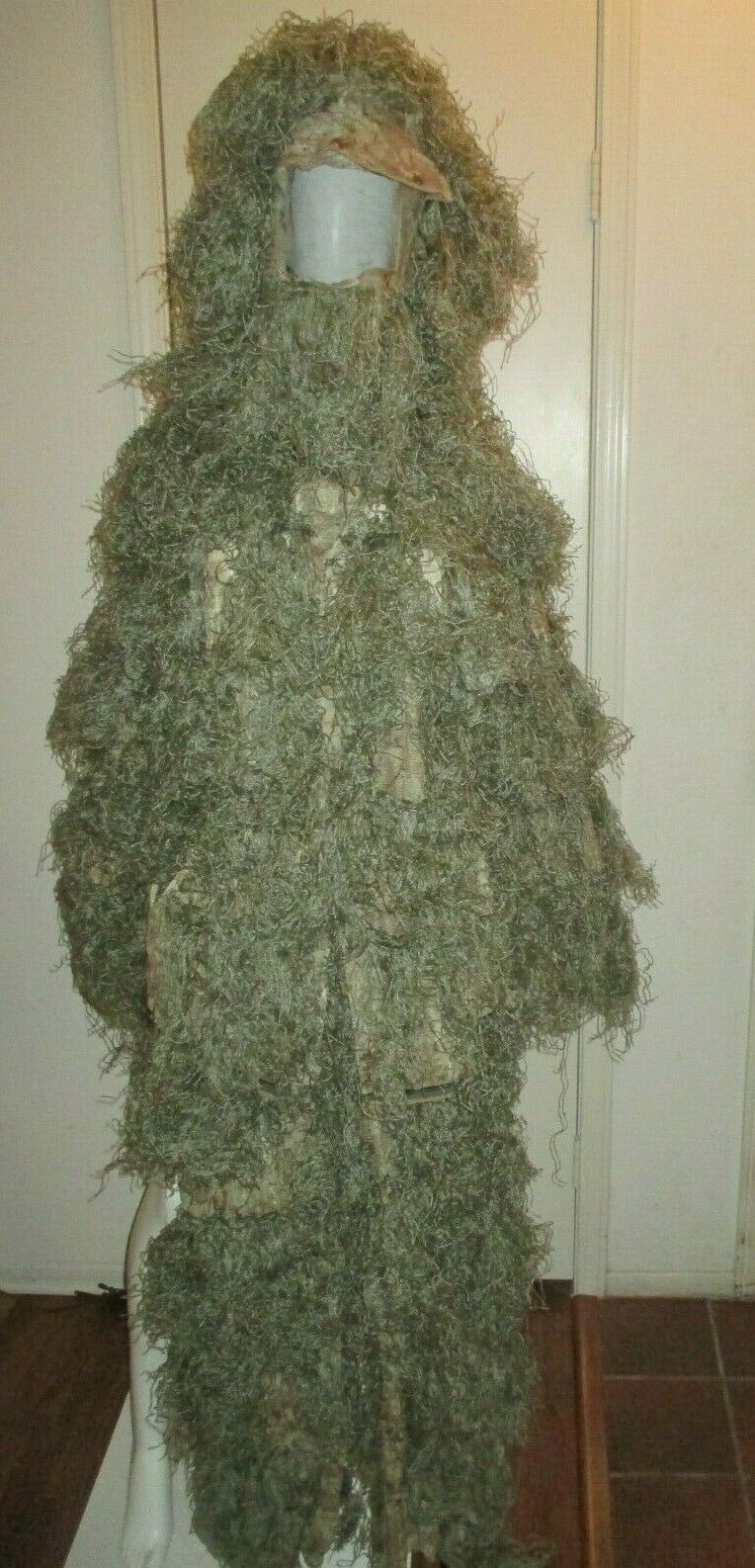 WARRIOR Ghillie Suit -Top,  Pants, Hat Camouflage Material & String Hunting Sport  no tax