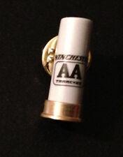 WINCHESTER FIREARMS AA GRAY Shotgun Shell PIN Hat Tie Lapel Ammunition skeet