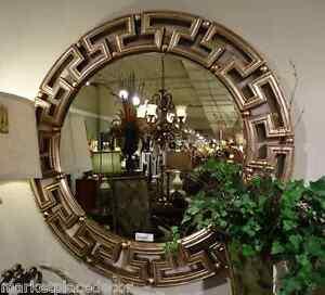 Image Is Loading Greek Key Tuscan Gold Silver Modern Round Designer