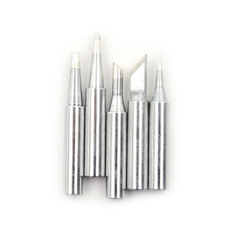 5pcs 936 Electric Brass Soldering Irons Tip Solder Station Conical Bevel Tip Lp