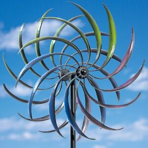 Image Is Loading Garden Large Wind Spinner Yard Decor Outdoor Metal