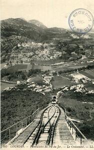LOURDES-LOT-2-Cartes-Funiculaire-Pic-du-Jer-Croisement-Fort-Pont-du-Gave