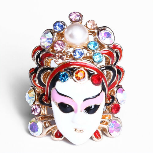 Creative opéra chinois face anneau Changing OPERA Figure Ring Cadeau