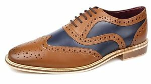 uomo marrone da blu bicolore Newham pelle Stringate in James chiaro Brogues Frank 1920 scuro wSq78x0qv