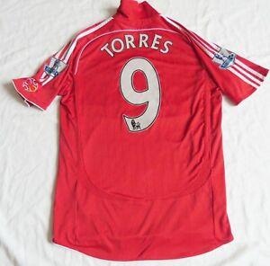 LIVERPOOL FC #9 TORRES Adidas Home Shirt 2006/08 (M)