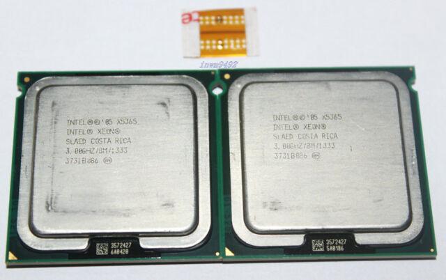 2PCS Intel Xeon X5365 3GHz Quad-Core Processors Socket 771 SLAED