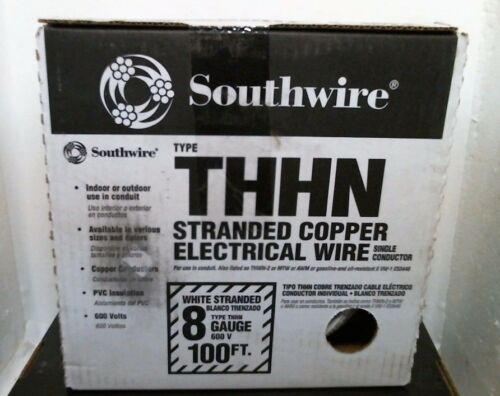 100/' White F.S. Southwire 20489133 Type THHN Stranded Copper Electrical Wire