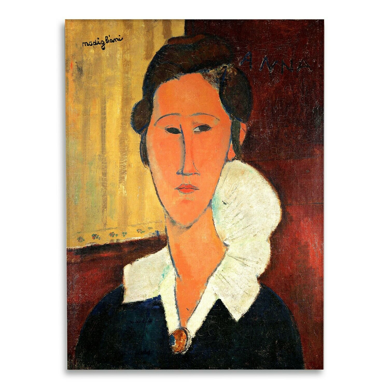Vetro Acrilico  - Amedeo Modigliani - Ritratto di Hanka ZbGoldwska - Tirage d'Art