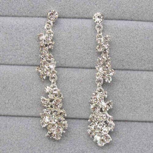 Frauen Strass Kristall Kragen Halskette Ohrringe Hochzeit Schmuck Set  ZDZJP
