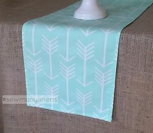 Mint Green Table Runner Pastel Dining Room Home Decor Linens Table Centerpiece Ebay