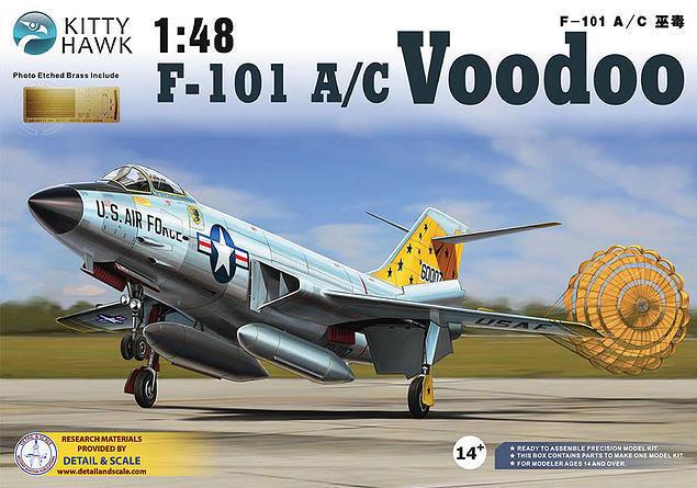 80% de descuento Avion de combat combat combat US. McDONNELL F-101  VOODOO  - KIT KITTY-HAWK 1 48 N° 80115  preferente