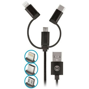 3-in-1-Universal-Micro-USB-amp-amp-Type-C-Cable-Chargeur-Wiko-View-2-Lite-Pro