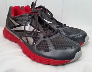 3bfb2c783822 Reebok Vibetech Men s Solarvibe Men s Running Shoes gray red size 9 ...