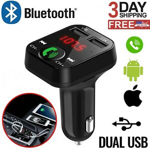 In-Car-Bluetooth-FM-Transmitter-Radio-MP3-Wireless-Adapter-Car-Kit-USB-Charger-2